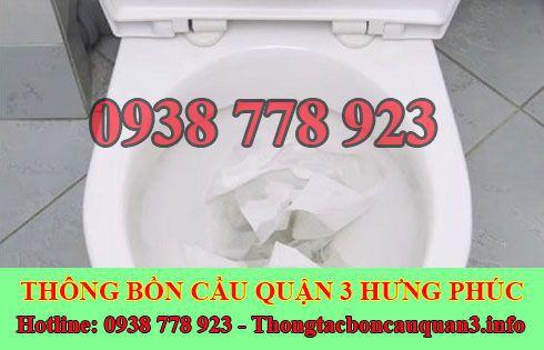 Thông bồn cầu bị nghẹt giấy LH Hưng Phúc 0938778923