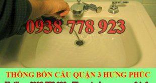 Thông tắc bồn rửa chén bát bị trào ngược Quận 3 lh:0909994175