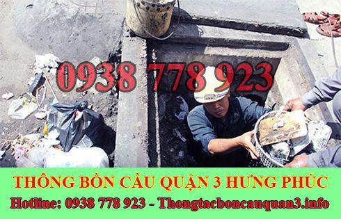 Dịch vụ nạo vét hố ga quận 3 Hưng Phúc LH 0938778923