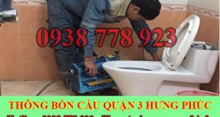 Thợ sữa bồn cầu toilet bị nghẹt Quận 3 giá rẻ 0905561312