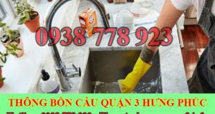 Thợ sửa bồn rửa chén bát Quận 3 tại nhà giá rẻ 0909994175