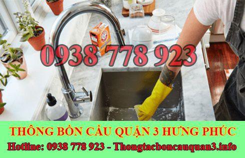 Thợ sửa bồn rửa chén bát Quận 3 Hưng Phúc LH 0938778923