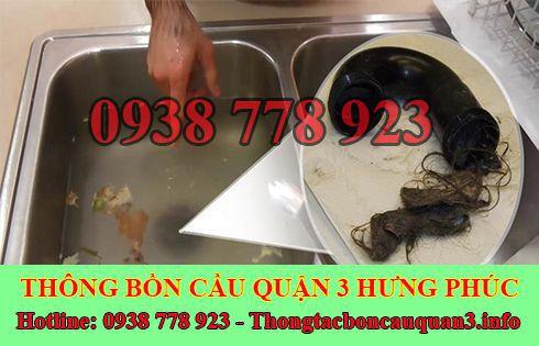 Thông tắc bồn chậu rửa chén bát Quận 3 Hưng Phúc 0938778923
