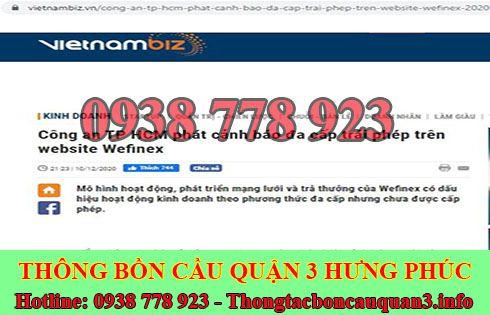 Wefinex đa cấp trái phép vietnamnet cảnh báo