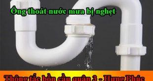 Ống thoát nước mưa bị nghẹt xử lý đơn giản hiệu quả tại nhà